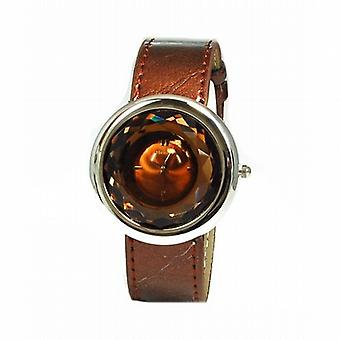 Henley Glamour Chocolate Multi Faceted Ladies Fashion Watch H06021.4