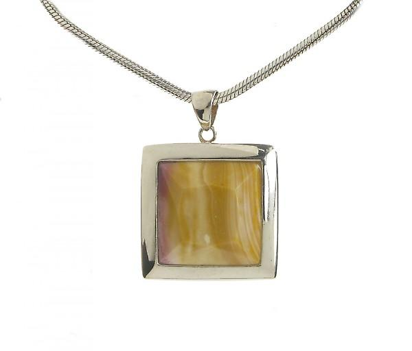 Cavendish French Silver Framed Square Mookaite Pendant without Chain