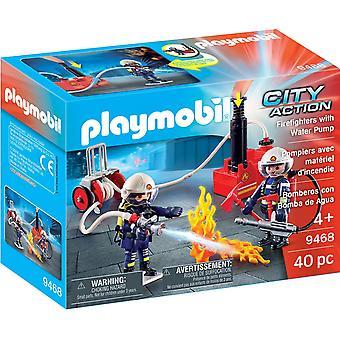 Playmobil 9468 City Action brand män med vatten pump