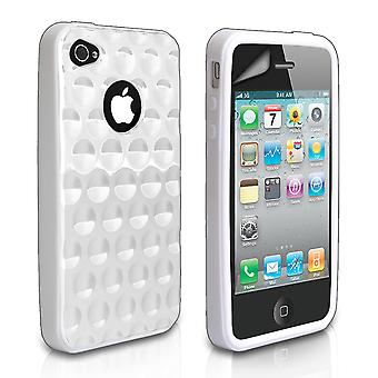 YouSave Accessories iPhone 4 and 4S Bubble Gel Case - White