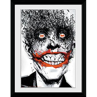 Batman Joker comique encadré Collector impression 40x30cm