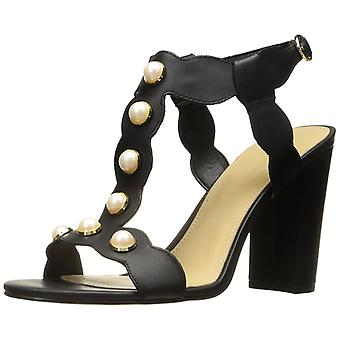 Marc Fisher Womens Kaylee Leather Open Toe Casual Ankle Strap Sandals