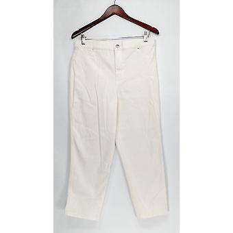 Joan Rivers Classics Coll. Petite Jeans Ankle Length Jeans White A303073
