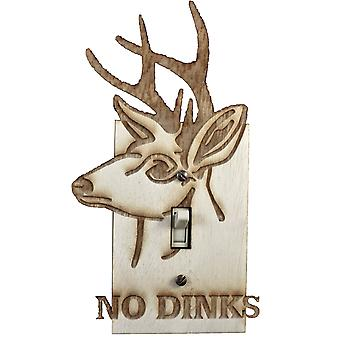No dinks switch plate - raw wood - 4.5