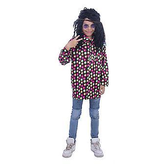 Hippie Flower Power Boy Costume Neon Disco Shirt Boys Costume