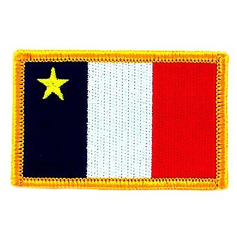 Patch Ecusson Brode Drapeau Acadie Acadien  Flag  Thermocollant Canada