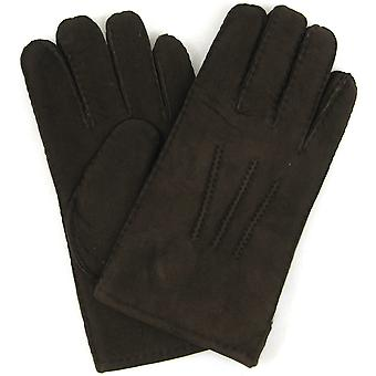 Mens Genuine Sheepskin Glove - Coffee