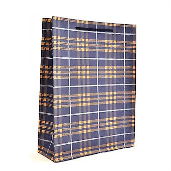 1PK Single Wall Large Paper Gift Bags Navy Blue for Wedding Christmas Birthday Party