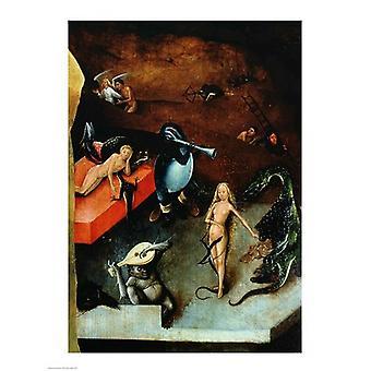 Das letzte Urteil Detail der Musikinstrumente Poster Print von Hieronymus Bosch