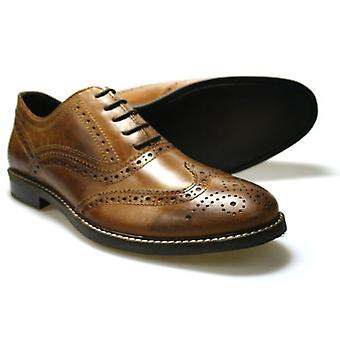 Red Tape Bradshaw Men's Brown Leather Brogue Shoes