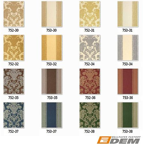 3D Baroque wallpaper vintage EDEM 752-34 high quality embossed luxury classic wallpaper crème matte white champagne Platinum gray