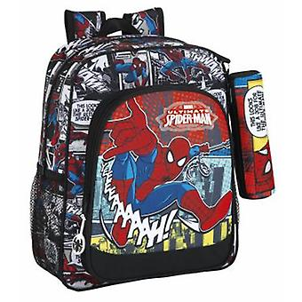 Safta Mochila Junior Adaptable Carro Spiderman Graphic Art