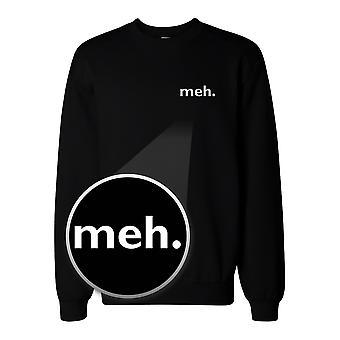 Meh. Pocket Print tröja tillbaka till skolan Unisex Sweatshirt