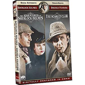 Adventures of Sherlock Holmes/Scarlet Claw [DVD] USA import