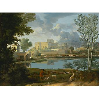 Nicolas Poussin - Landscape with a Calm Poster Print Giclee