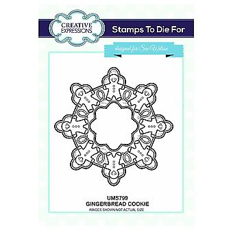Creative Expressions Gingerbread Cookie Stamp By Sue Wilson