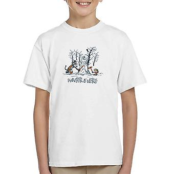 Vinteren er her Calvin og Hobbes Game Of Thrones børne T-Shirt