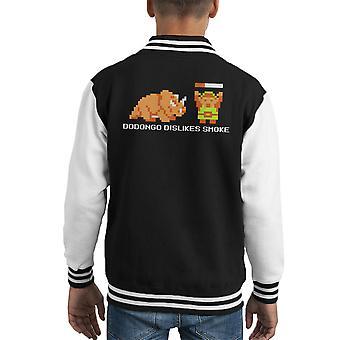 Dodongo Abneigungen Rauch Schwarz Zelda Kid Varsity Jacket