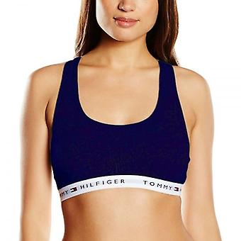 Tommy Hilfiger Women Iconic Cotton Bralette, Navy, XS
