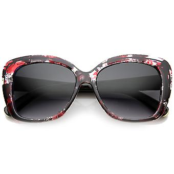 Womens Oversized Fashion Square Inkblot Sunglasses