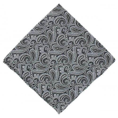 Michelsons of London All Over Paisley Silk Handkerchief - Black