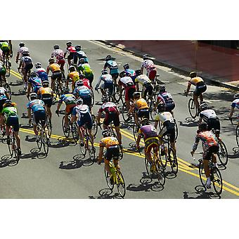 Amateur Men Bicyclists competing in the Garrett Lemire Memorial Grand Prix National Racing Circuit (NRC) on April 10 2005 in Ojai CA Poster Print by Panoramic Images (36 x 24)