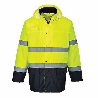 Portwest - Reflective Hi-Vis 150D Mesh-Lined Lite Two-Tone Traffic Jacket
