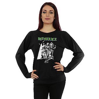 Beetlejuice Women's Mono Poster Sweatshirt