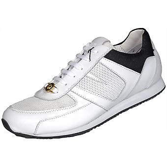 Versace Versus Lion Head Leather Mesh White Trainers