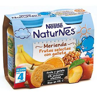 Nestlé Puree Selected Fruits with Cookie 400 gr (Childhood , Healthy diet , Pots)