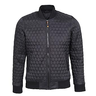 2786 Womens/Ladies Quilted Zip Up Flight Jacket