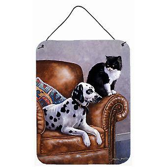 Dalmatian with Cat Wall or Door Hanging Prints