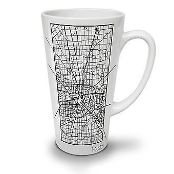 Houston City Map Fashion NEW White Tea Coffee Ceramic Latte Mug 17 oz | Wellcoda