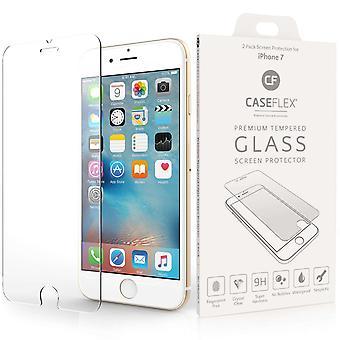 Caseflex iPhone 7 glasskærm beskytter - Twin Pack