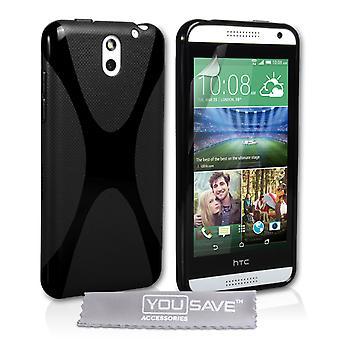 HTC Desire 610 Gel X-Line silikonfodral - svart