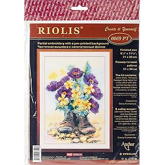 Second Life Stamped Cross Stitch Kit-8.25