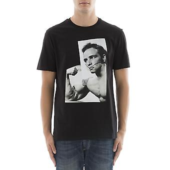 Neil Barrett men's BJT323PF531P01 black cotton T-Shirt