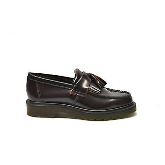 Dr Martens ladies ADRIANM Burgundy leather moccasins