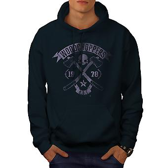 WoodBikerss Club Men NavyHoodie | Wellcoda