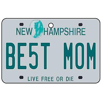 New Hampshire - Best Mom License Plate Car Air Freshener