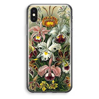 iPhone X Transparant Case - Haeckel Orchidae