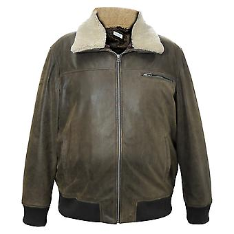 Chester Mens Leather Bomber Jacket