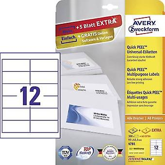 Avery-Zweckform 4781 Labels (A4) 97 x 42.3 mm Paper