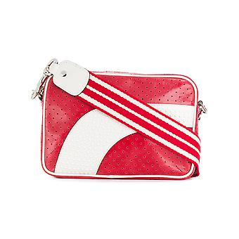 Red Valentino women's PQ2B0A15VET0YH white/red leather shoulder bag
