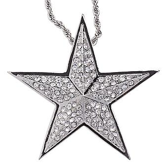 Iced out bling hip hop chain - STAR