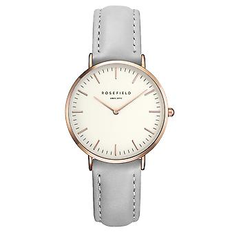 Rosefield The Tribeca White Grey Rosegold Ladies Watch