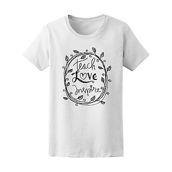 Teach Love Inspire Hipster Tee Women's -Image by Shutterstock
