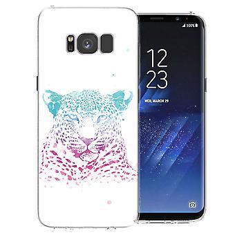 Samsung Galaxy S8 Leopard Splash TPU Gel Case