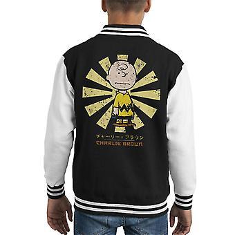 Charlie Brown orzeszki ziemne Retro japońskich Kid's uniwerek kurtka