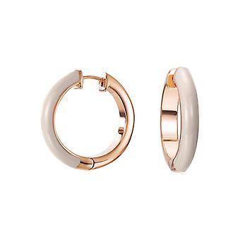 ESPRIT women's earrings Creole stainless steel Rosé Fancy beige ESCO11657I000
